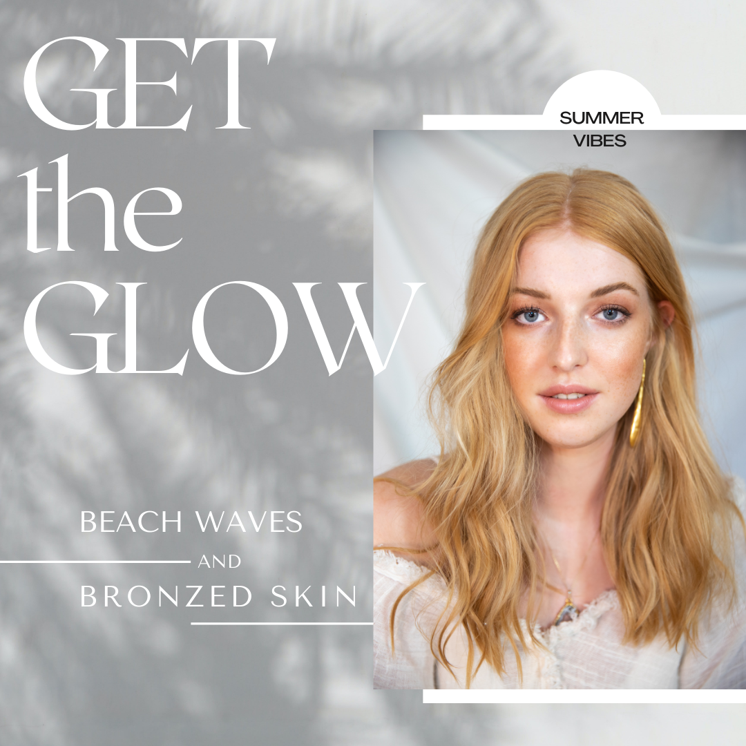 Sommer haar styling, Sommer makeup Trend